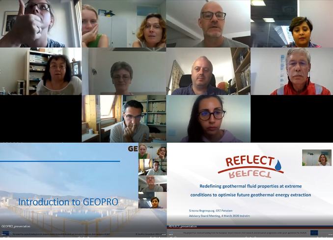 REFLECT progress meeting and first joint meeting with GEOPRO
