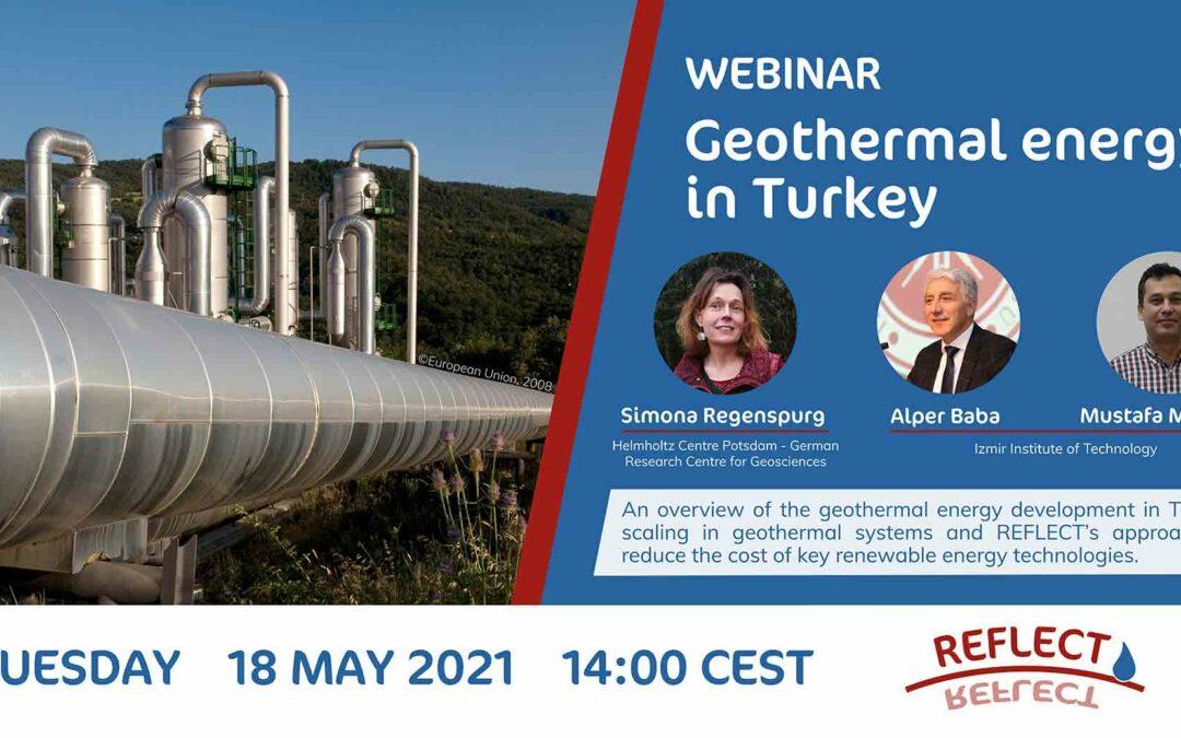 REFLECT webinar 'Geothermal Energy in Turkey': Registration is open